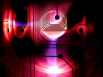 Pink circuity. Pink background of circuits Royalty Free Stock Photography