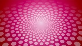 Pink circular background with polka dots stock video