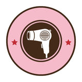 Pink circular border hairdryer with stars decorative Stock Photography