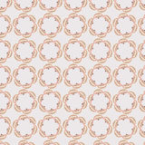 Pink circular graphic repeat pattern with vintage fans Royalty Free Stock Images