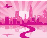 Pink city Stock Photos