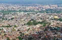 Pink City Jaipur. Aerial view of Jaipur Pink City from Nahargarh Fort,Jaipur,Rajasthan royalty free stock image