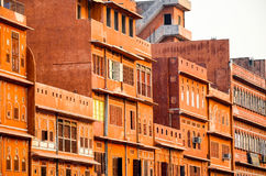 Pink City, Jaipur, India. The buildings of Jaipur Old Town painted in the same tone of red royalty free stock photos
