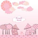 Pink city Stock Image