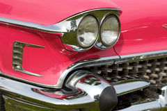 Pink classic American car Stock Photos