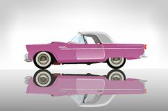 Pink classic auto Royalty Free Stock Image