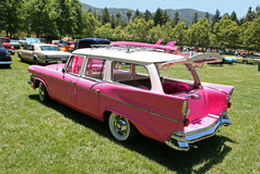 Pink Classic Car. At the car show Royalty Free Stock Image
