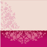 Pink classical floral horizontal banner Stock Photography