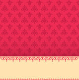 Pink classical oriental pattern banner Stock Photography