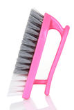 Pink cleaning brush Stock Images