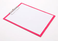 Pink Clipboard Royalty Free Stock Photos