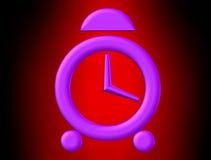 Pink clock Stock Image