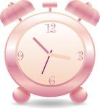 Pink Clock. Pink alarm clock  illustration Royalty Free Stock Photo