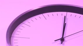 Pink Clock Stock Photography
