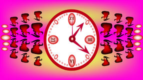 Pink clock Stock Photo