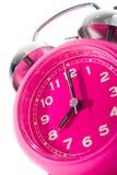 Pink clock Royalty Free Stock Image