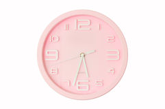 Pink clock Royalty Free Stock Photography