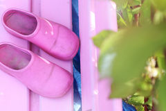 Pink clogs Royalty Free Stock Photos