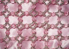 Pink Cloth with Bead Trim Stock Photo