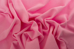 Pink cloth. Close up of pink cotton fabric Stock Image