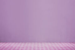 Pink cloth on the table Royalty Free Stock Photography