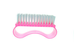Pink clothes brush Royalty Free Stock Images
