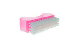Pink clothes brush Stock Photography
