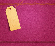 Pink Clothes Label Royalty Free Stock Images