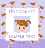 Pink clothing girl text box Royalty Free Stock Image