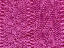 Pink Knitted Background royalty free stock photos