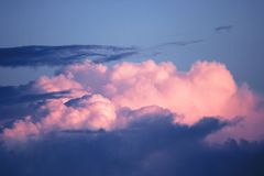 Pink cloud Stock Photo