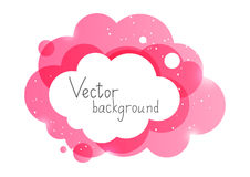 Pink cloud element Royalty Free Stock Photo