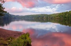 Evening Sunset Over Price Lake in North Carolina Royalty Free Stock Photography