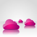 Pink clouds background Royalty Free Stock Photography