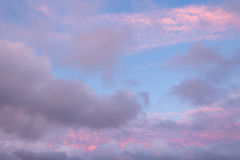 Pink clouds Royalty Free Stock Photos