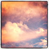 Pink Clouds in New York City Stock Photography