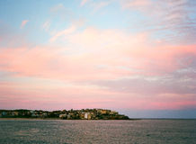 Pink Clouds over Bondi Beach Royalty Free Stock Photo