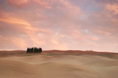Pink clouds over tuscany Royalty Free Stock Photo