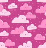 Pink clouds pattern Stock Photography