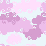 Pink Clouds seamless background. Stock Images