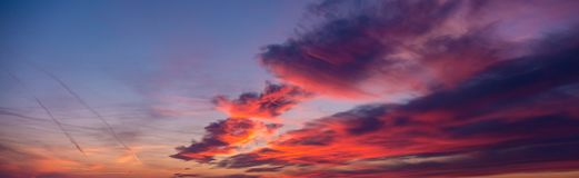 Pink clouds at a sunset Stock Image