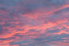 Pink Cloudscape Royalty Free Stock Photography
