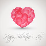 Pink cloudy heart. Valentine concept Royalty Free Stock Image