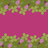 Pink clover on a crimson background Royalty Free Stock Photos