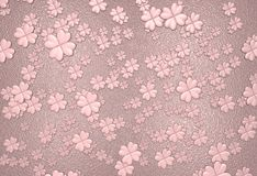 Pink clover leaves background Stock Image