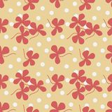 Pink clover leaves seamless pattern Royalty Free Stock Photos