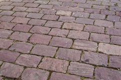 Pink cobbles  in the street Royalty Free Stock Photo