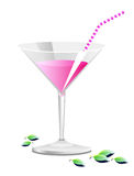 Pink cocktail Stock Photos
