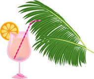Pink cocktail Stock Images