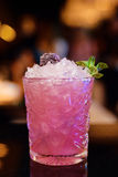 Pink cocktail at the bar Royalty Free Stock Photography